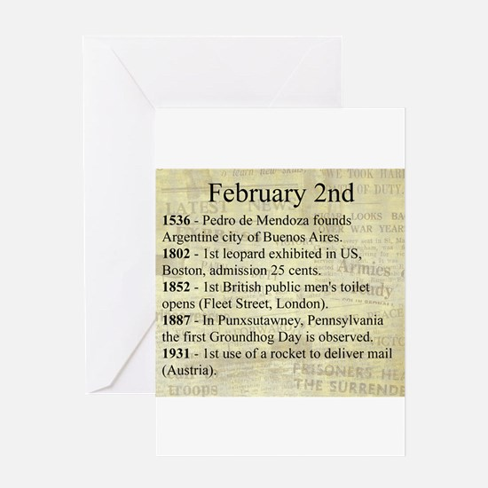 February 2nd Greeting Cards