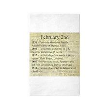 February 2nd 3'x5' Area Rug
