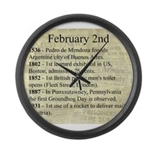 February 2nd Large Wall Clock