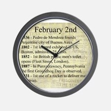 February 2nd Wall Clock
