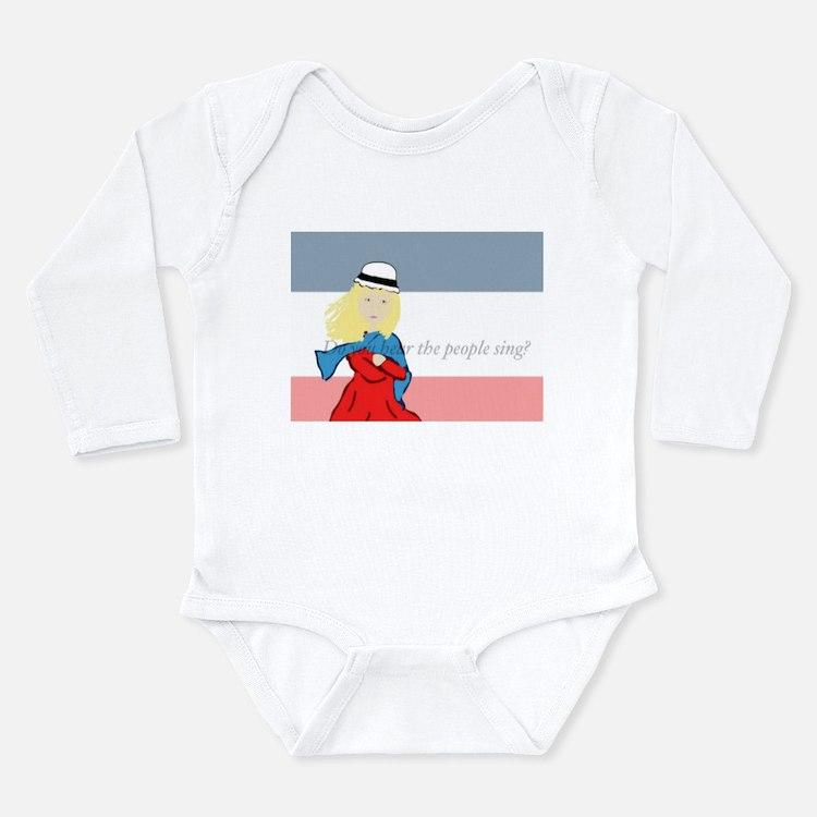 Cute Les miserable Long Sleeve Infant Bodysuit