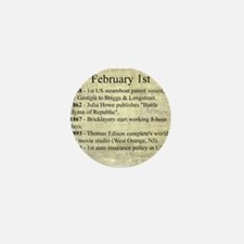 February 1st Mini Button