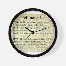 February 1st Wall Clock