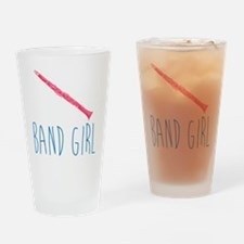 Band Girl Clarinet Drinking Glass