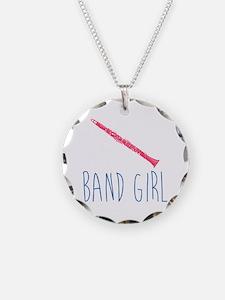 Band Girl Clarinet Necklace Circle Charm