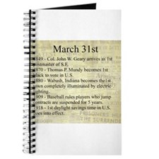 March 31st Journal