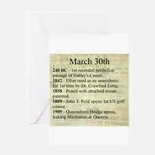 March 30th Greeting Cards