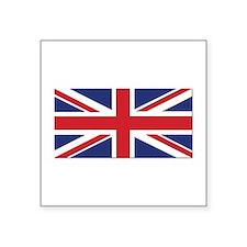"Flag of the United Kingdom Square Sticker 3"" x 3"""
