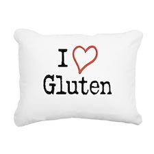 I Heart Gluten Rectangular Canvas Pillow