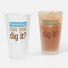 Paleontology Dig It Drinking Glass