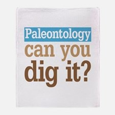 Paleontology Dig It Throw Blanket