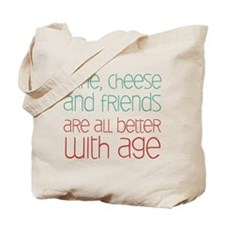 Wine Cheese Friends Tote Bag