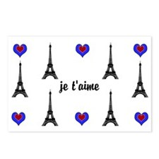 Stylish French I LOVE PARIS Postcards (Package of
