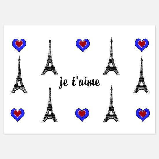 Stylish French I LOVE PARIS Invitations