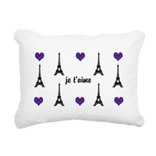 Stylish French I LOVE PARIS Rectangular Canvas Pil