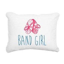 Band Girl Cymbals Rectangular Canvas Pillow