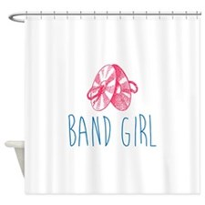 Band Girl Cymbals Shower Curtain