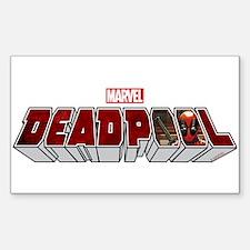 Deadpool Logo Sticker (Rectangle)