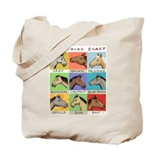 Horse Color Chart Tote Bag