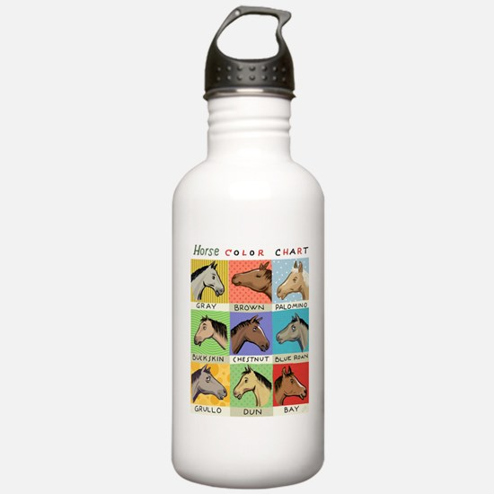 Horse Color Chart Water Bottle