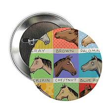"""Horse Color Chart 2.25"""" Button"""