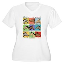 Horse Color Chart Plus Size T-Shirt