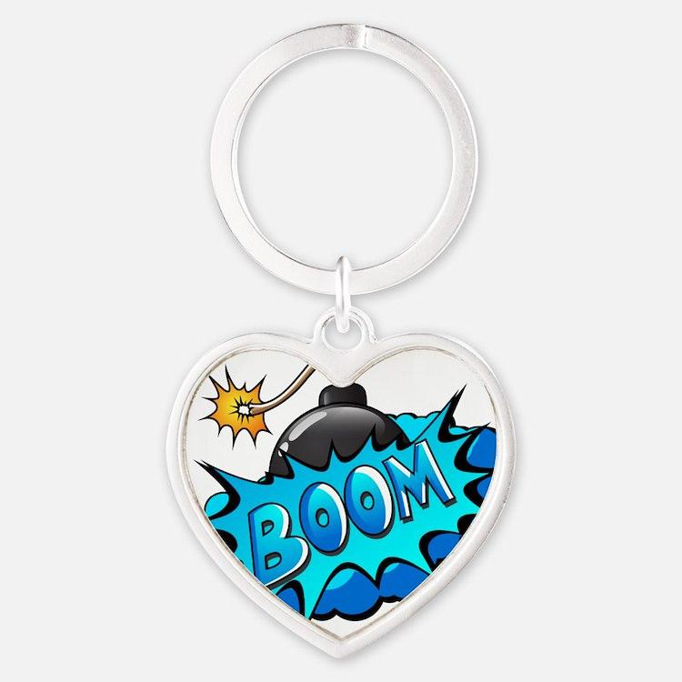 BOOM BOMB Heart Keychain