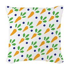 Carrot Calico Woven Throw Pillow