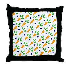 Carrot Calico Throw Pillow