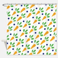 Carrot Calico Shower Curtain