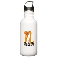 Custom N Monogram Water Bottle