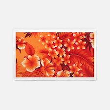 Orange Hibiscus 3'x5' Area Rug