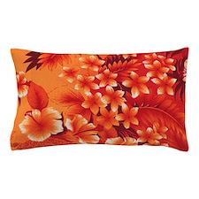Orange Hibiscus Pillow Case
