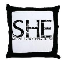 she4mehrt Throw Pillow