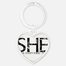 she4mehrt Heart Keychain