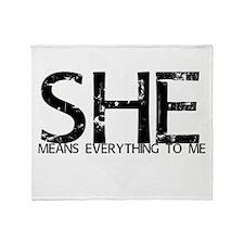 she4mehrt Throw Blanket