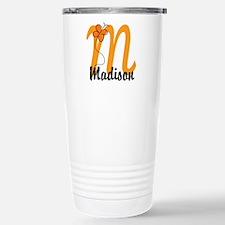 Custom M Monogram Travel Mug