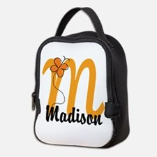 Custom M Monogram Neoprene Lunch Bag