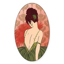 Art Deco Lady with Damask - BIANCA: Decal