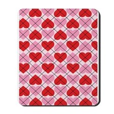 Sweetheart Argyle Mousepad