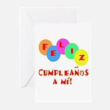 Feliz Cumpleanos to me Greeting Cards (Pk of 10)