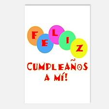 Feliz Cumpleanos to me Postcards (Package of 8)