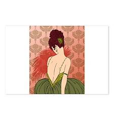 Art Deco Lady with Damask - BIANCA: Antique Autumn