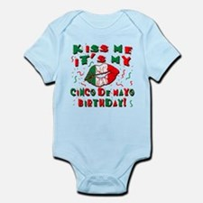 KISS ME Cinco de Mayo Birthday Infant Bodysuit