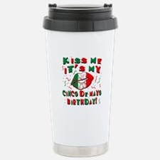 KISS ME Cinco de Mayo B Stainless Steel Travel Mug