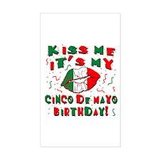 KISS ME Cinco de Mayo Birthday Decal