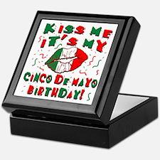 KISS ME Cinco de Mayo Birthday Keepsake Box