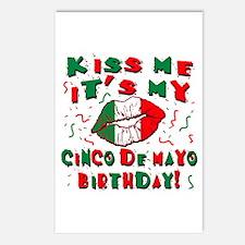 KISS ME Cinco de Mayo Bir Postcards (Package of 8)