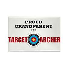 Proud Grandparent Target Archer Rectangle Magnet
