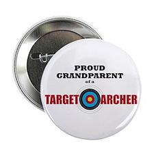 """Proud Grandparent Target Archer 2.25"""" Button"""